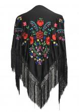 Spanischer Manton/Tuch schwarz verschiedenen Blumen