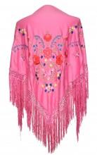 Spanischer Manton/Tuch rosa verschiedenen Blumen