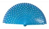 Flamencofächer blau weiß holz