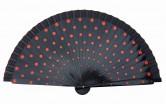 Flamencofächer schwarz rot holz