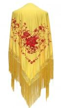 Spanischer Manton/Tuch, gelb rot Größe L