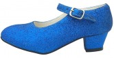 Spanische Schuhe Königsblau glitzer