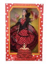 Spanischer Barbie Puppe rot schwarz