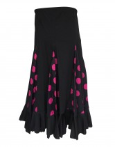Flamenco Rock Kinder schwarz mit rosa Punkten