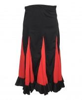 Flamenco Rock Kinder schwarz mit roten Streifen