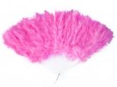 Flamencofächer mit hell rosa federn