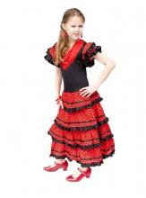 Flamenco Kleid schwarz rot