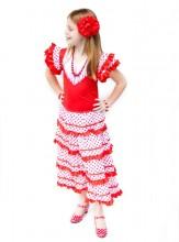 Flamenco Kleid rot weiß