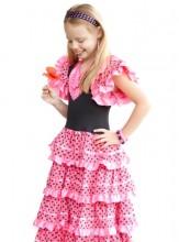 Flamenco Kleid rosa schwarz