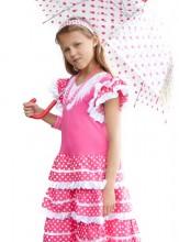 Flamenco Kleid rosa weiß