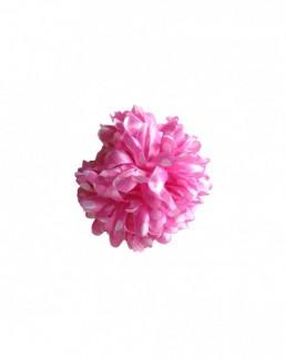 Haarblume leicht rosa mit weißen Punkten