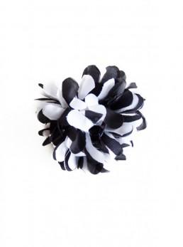 Haarblume schwarz weiß