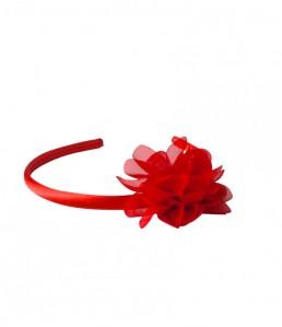 Haarreifen mit roten Blume