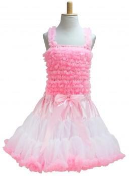 Prinzessinnen kleid Elvira Deluxe Rosa weiß