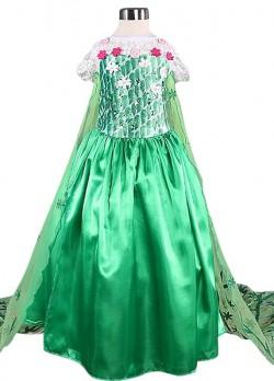Elsa Frozen Fever Kleid Kostüm grün