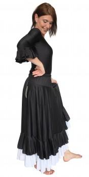 Flamencorock Damen, schwarz/weiß