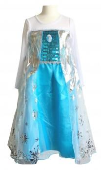 Prinzessinnen kleid Elsa Frozen Kostüm mit Broche