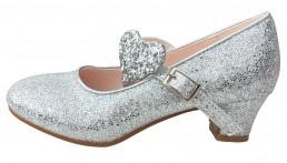Prinzessinnen Schuhe Elsa Frozen Schuhe silber glitzer Deluxe