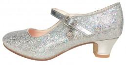 Prinzessinnen Schuhe Elsa Frozen silber mit kleines Herzchen
