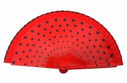 Flamencofächer rot schwarz holz