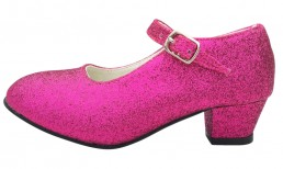 Spanische Schuhe Fuchsia glitzer