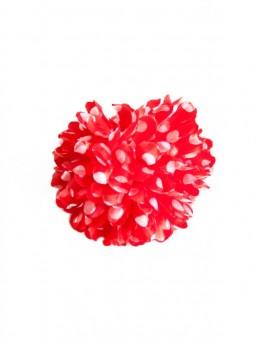 Haarblume rot mit weißen Punkten