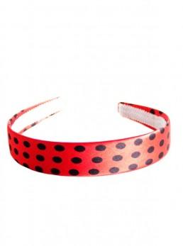 Haarreifen rot mit schwarzen Punkten