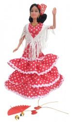 barbie kaal rood wit